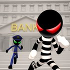 Stickman Bank Robbery Escape MOD много денег