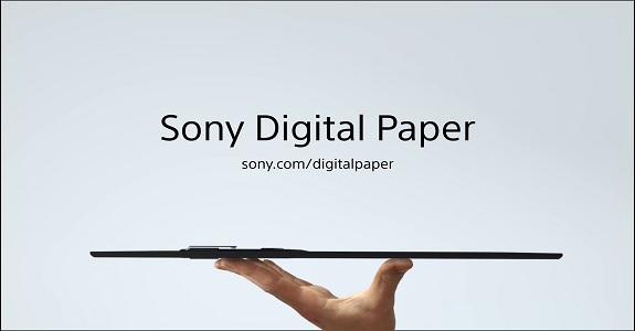 Компания Sony выпустила новую цифровую бумагу