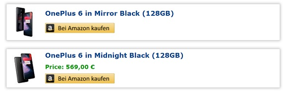 Amazon Germany начали продавать OnePlus 6