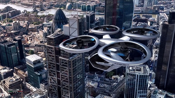 The first test of a flying taxi in Germany