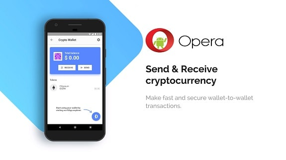 Opera browser for Android has implemented support for a crypto-currency wallet