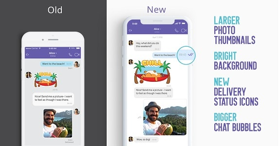 Viber changed design and became much faster