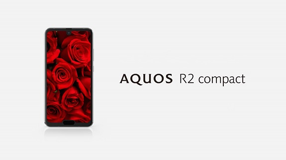 Sharp Aquos R2 Compact, a mini-smartphone with two notches