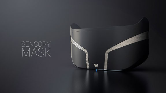 Feelreal Sensory Mask - a device that allows you to feel