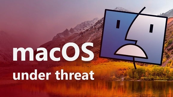 Operating system macOS was threatened security