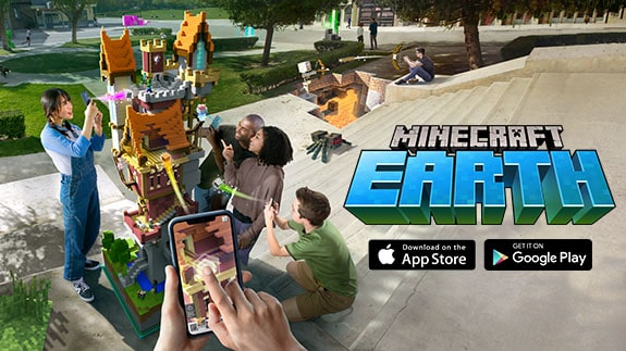Announcement of AR Minecraft Earth for Android and IOS platforms