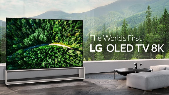 LG Electronics began selling the first OLED 8K TV