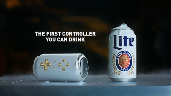 Miller Lite Cantroller - controller, which you can drink