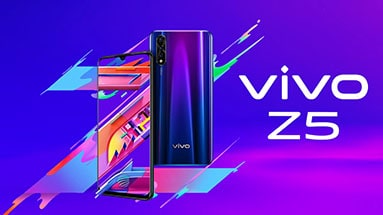 Vivo Z5 - stylish design and capacious battery