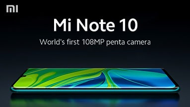 Announcement of Xiaomi Mi Note 10 and Mi Note 10 Pro For the global market
